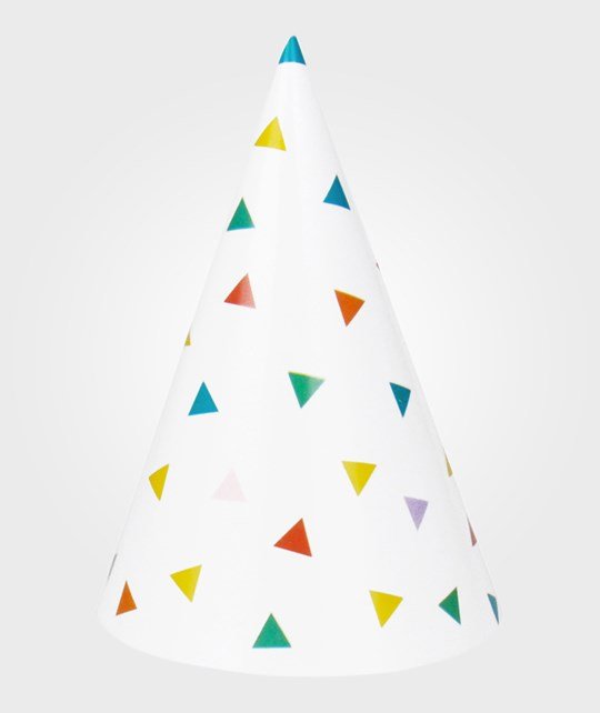 My Little Day 8 Party Hats - Multicolor Triangles multicolour triangles