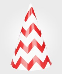 My Little Day 8 Party Hats - Red Chevrons red chevrons