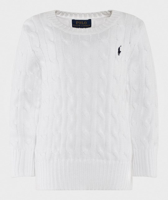 Ralph Lauren Cable-Knit Cotton Sweater White White