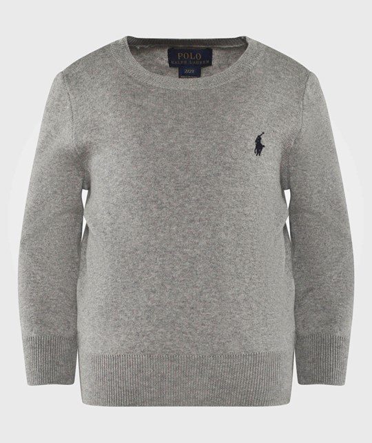 Ralph Lauren Crew Neck Sweater Dove Grey Heather DOVE GREY HEATHER