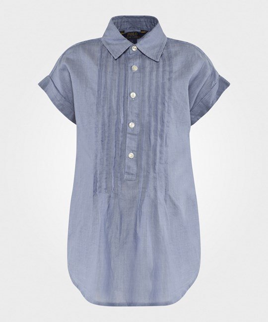 Ralph Lauren Pleated Shirt Blue Blue/White