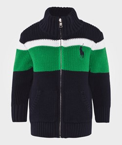 Ralph Lauren Striped Cotton Sweater Hunter Navy Multi