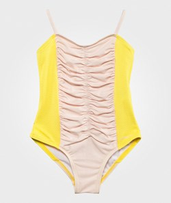 Carrément Beau Swimming Costume Yellow  Pink