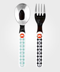 Done by Deer Zoopreme Spoon & Fork Set Blue Blue