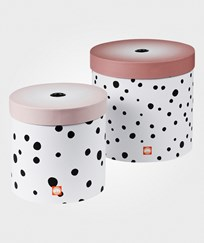 Done by Deer Happy Dots Round Box Set 2 Pieces Powder Powder