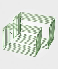 Done by Deer Wire Shelf Rectangle 2 pcs Green Green