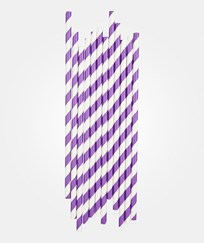 My Little Day 25 Paper Straws - Violet Stripes violet stripes