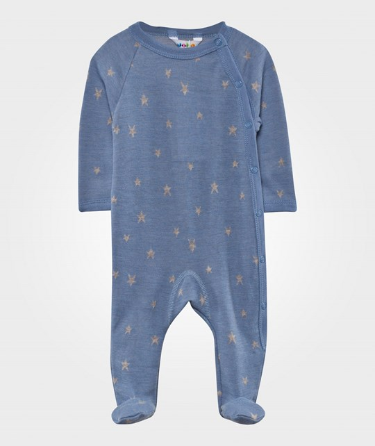 Joha Footed Baby Body Falling Star Blue голубой