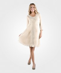 Mom2moM Pleated Dress Glow Offwhite Off white