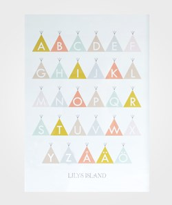 Lilys Island Tepee ABC Poster Color
