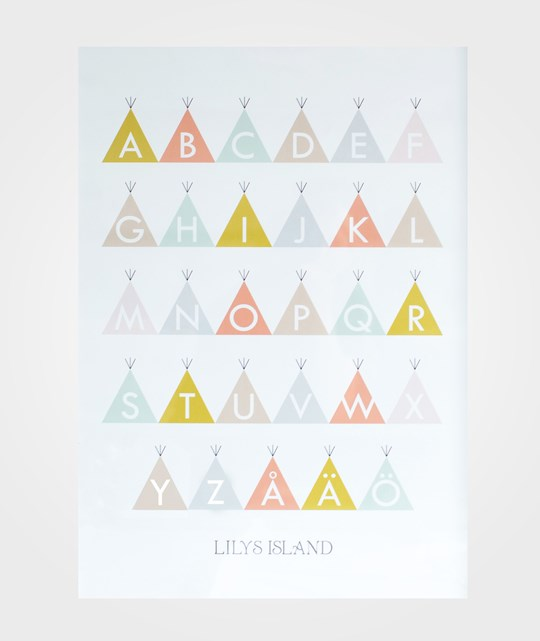 Lilys Island Tepee ABC Poster Color Multi