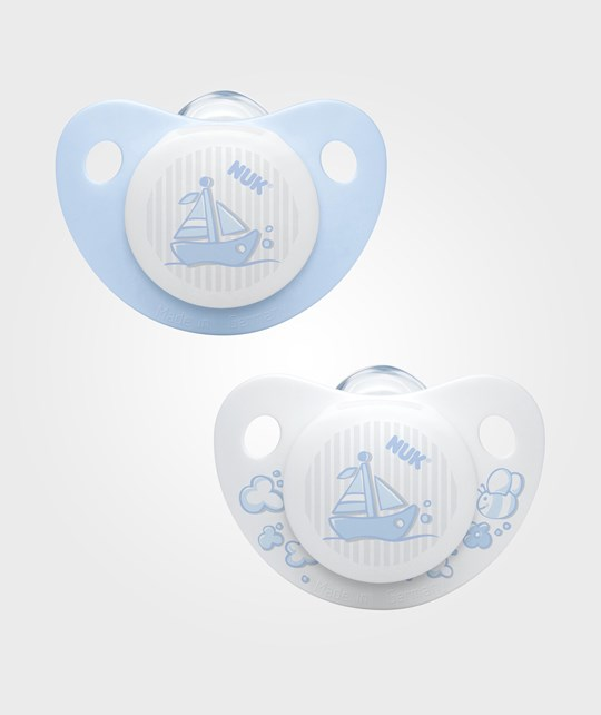 NUK Trendline Baby Rose & Blue S1 (0-6m) Silicone Pacifier 2-Pack Multi