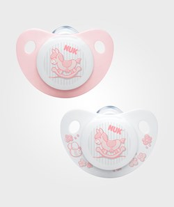 NUK Trendline Baby Rose & Blue S1 (0-6m) Silicone Pacifier 2-Pack
