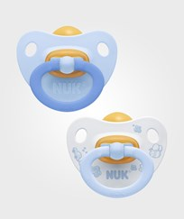 NUK Baby Blå S2 (6-18m) Latex Napp 2-Pack Multi
