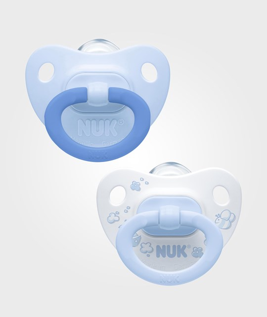 NUK Rose & Blue S2 (6-18m) Silicone Pacifier 2-Pack Multi