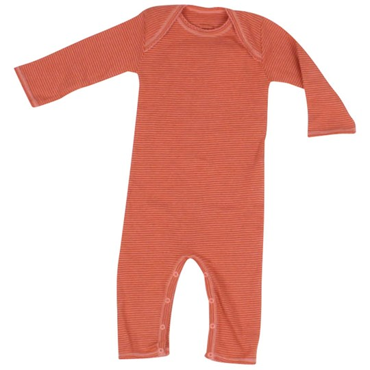 Noa Noa Miniature L/S Bodysuit Striped Orange