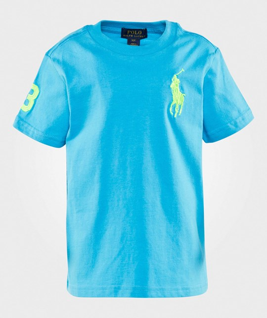 Ralph Lauren Big Pony Cotton Jersey Tee Clear Blue Clear Blue