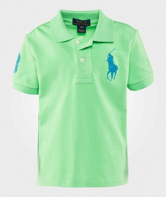 Ralph Lauren Big Pony Cotton Mesh Polo New Lime New Lime