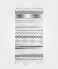 Kids Concept Dotty - Striped Grey Runner Rug Grey