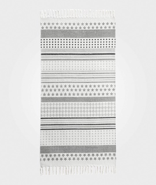 Kids Concept Dotty - Striped Grey Runner Rug Grå