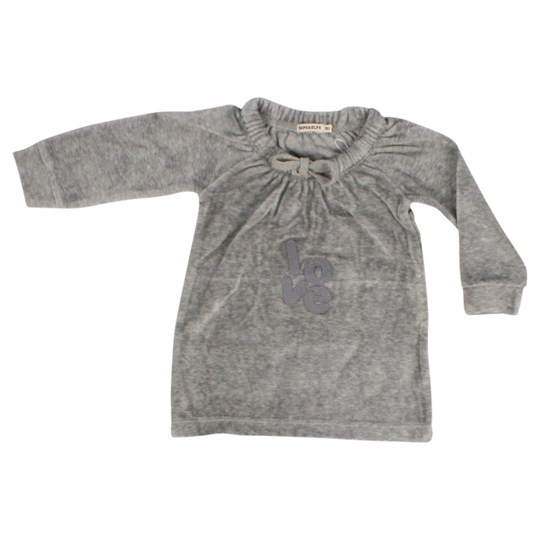 Imps & Elfs Dress L/S Gray Melange Black