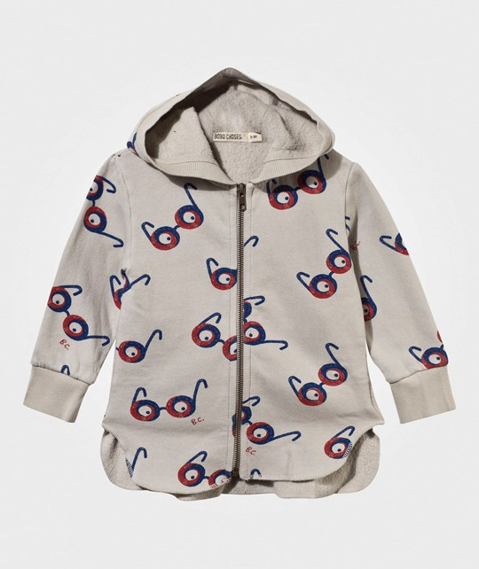 Bobo Choses Hooded Sweatshirt Glasses Silver Grey