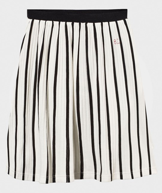 Bobo Choses Midi Skirt Vertical Stripes Gardenia