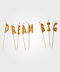 RICE A/S Dream Big Candles - Gold Gold