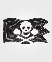 RICE A/S Kids Cool Pirate Sequin Mask 6-pack Black