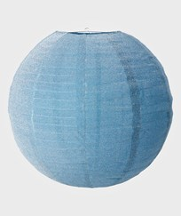 RICE A/S Large Round Lampshade Soft Blue Lurex Sand
