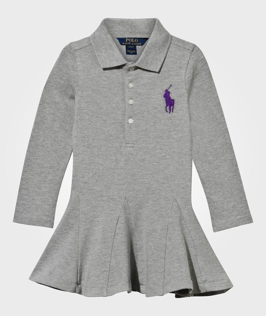 Ralph Lauren Big Polo Dress Bleecker Heather Bleecker Heather