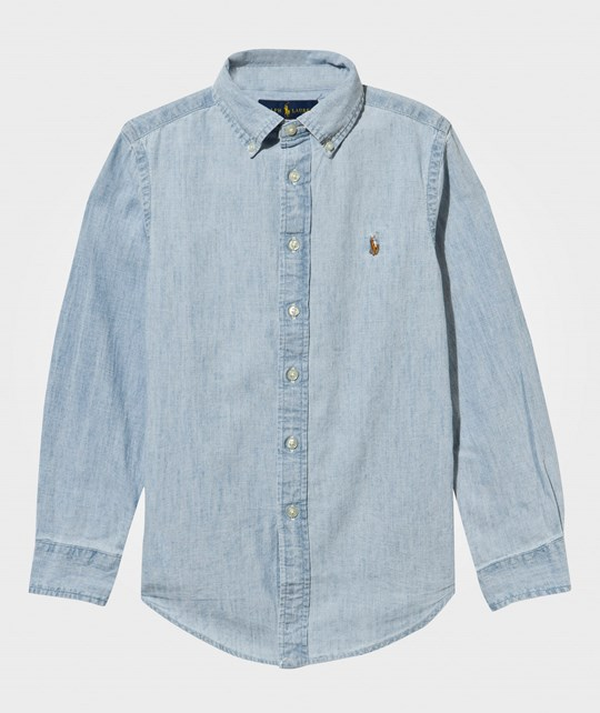 Ralph Lauren Custom Fit Shirt Light Blue Lt Blue