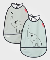 Done by Deer Bib, 2-pack, Elphee Grey Blue Blue