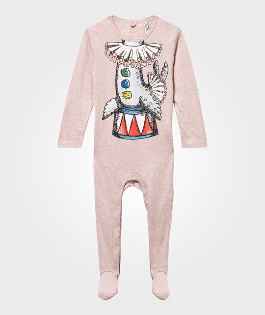 Stella McCartney Kids Twiddle Seal Footed Baby Body Peony Mel Peony Mel