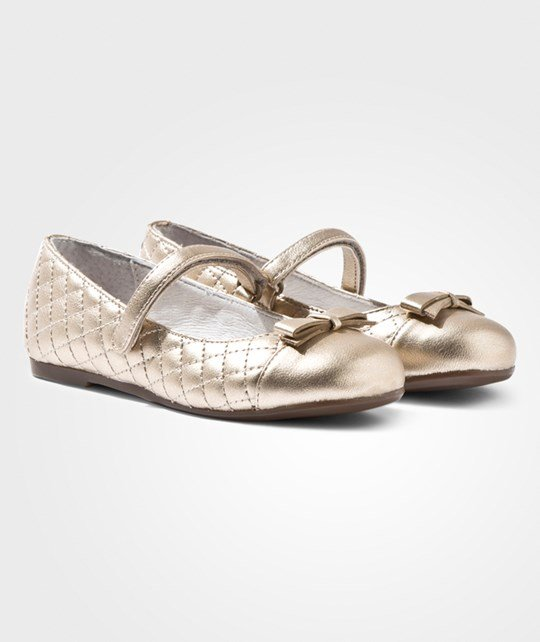 Mayoral Quilted Bow Ballet Flats Gold Золотой
