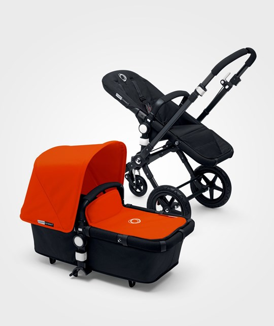 Bugaboo Cameleon3 Black/Black Extendable Sun Canopy Orange