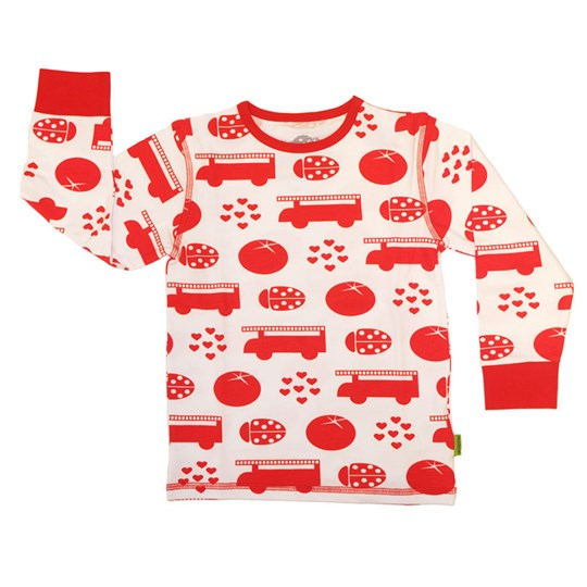 Plastisock L/S T-Shirt Red Things Fiery Red