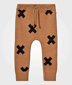 Tinycottons Knit Logo Pant Brown