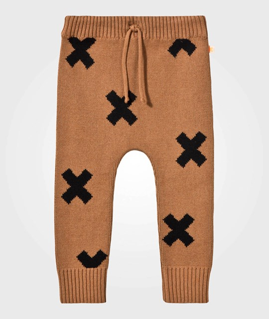 Tinycottons Knit Logo Pant Brown BROWN