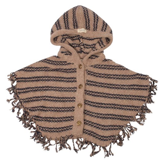 Scotch R'belle Knittet Poncho With Hood BROWN