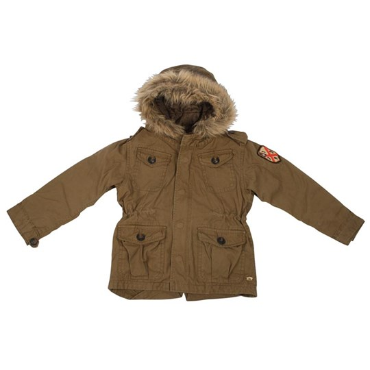 Scotch & Soda Nature Jacket With Hood BROWN
