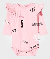 The BRAND Flounce Baby Body Pink Love Pink Love