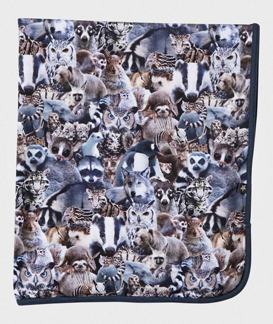 Molo Niles Blanket Animal Collage Animal Collage