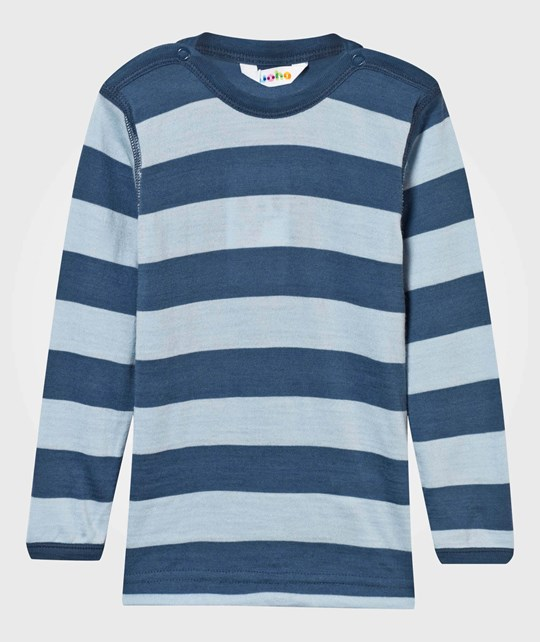 Joha Block Stripe Tee Blue Block Stripe Blue