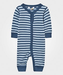 Joha Striped Baby One-Piece Blue
