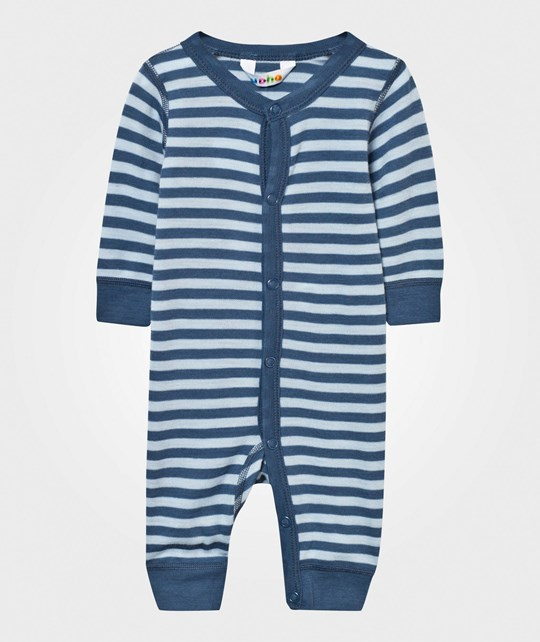 Joha Striped Baby One-Piece Blue Stripe Blue