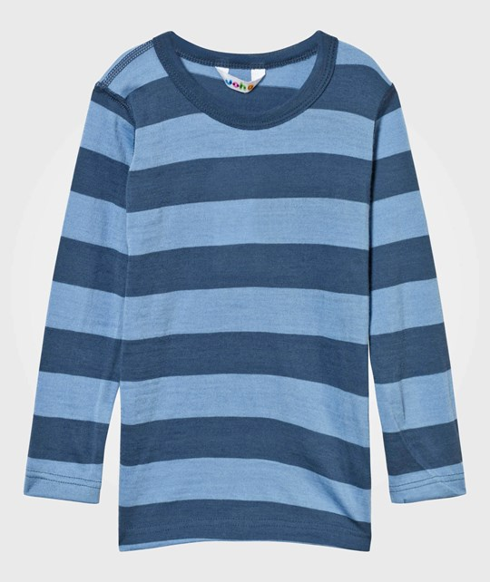 Joha Striped Tee Blue Block Stripe Blue