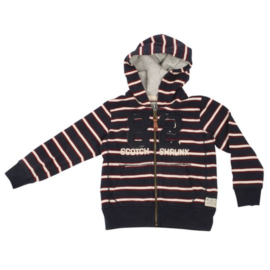 Scotch & Soda Hoodie Striped Blue