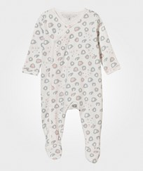 Little Marc Jacobs Leo Footed Baby Body Off White White