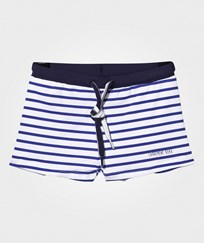 Carrément Beau Swimming Trunks Offwhite/Blue OFF WHITE  BLUE